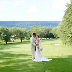 wedding ceremony on golf course