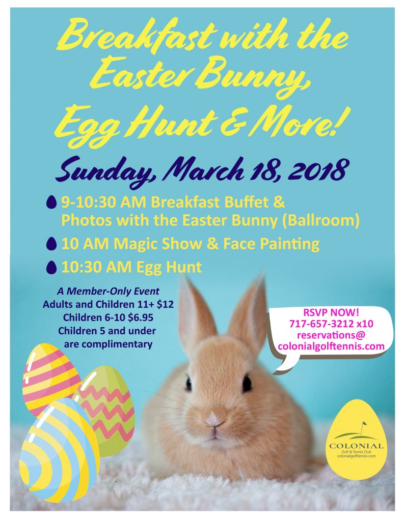 Breakfast With The Easter Bunny Egg Hunt