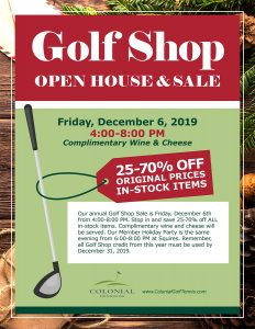 Golf Shop Open House Sale 232x300 - Golf Shop Sale