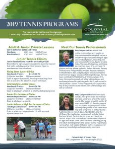 intermediate junior tennis clinic