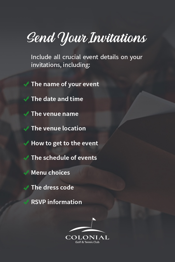05 Send your Invitations - How to Plan a Banquet