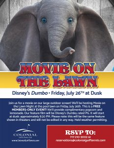 Movie on the Lawn July 232x300 - Movie on the Lawn - Dumbo