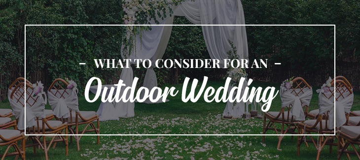 how to prepare for an outdoor wedding