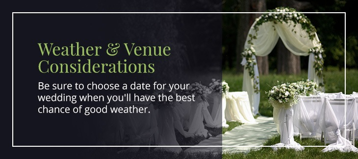 outdoor wedding venue and weather