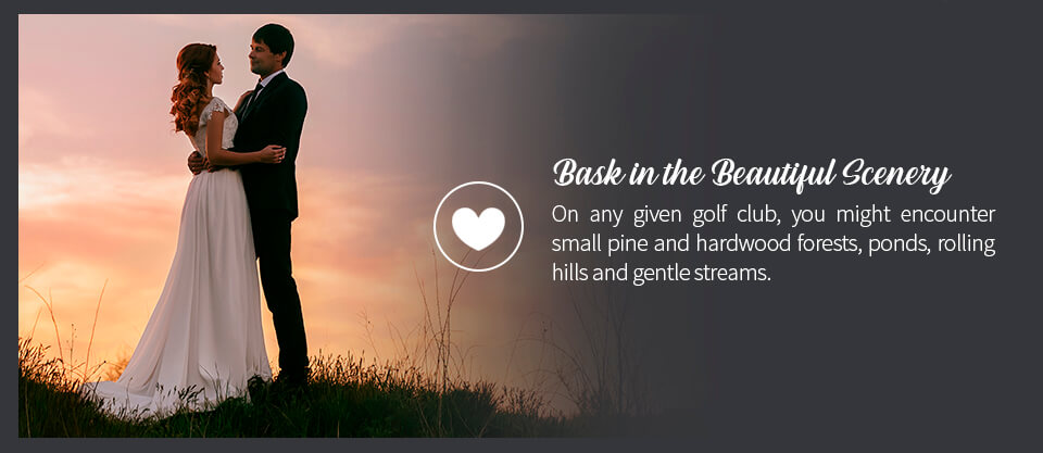 02 Bask in the Beautiful Scenery - 10 Benefits of a Wedding at a Golf Course