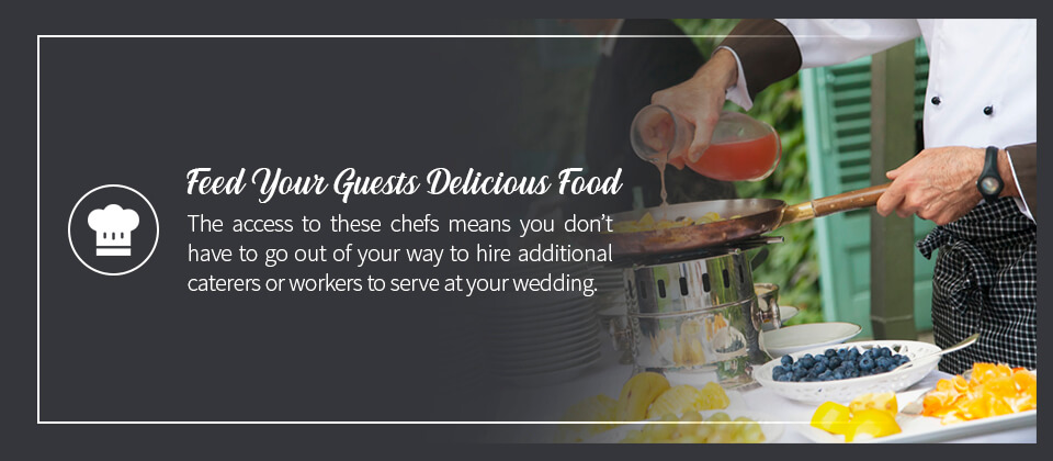 03 Feed Your Guests Delicious Food - 10 Benefits of a Wedding at a Golf Course