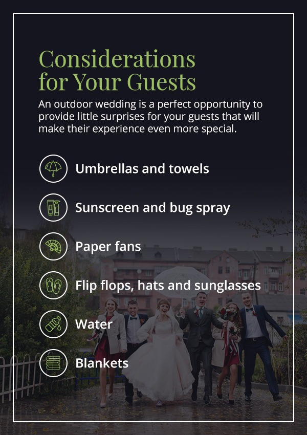 considerations for outdoor wedding guests