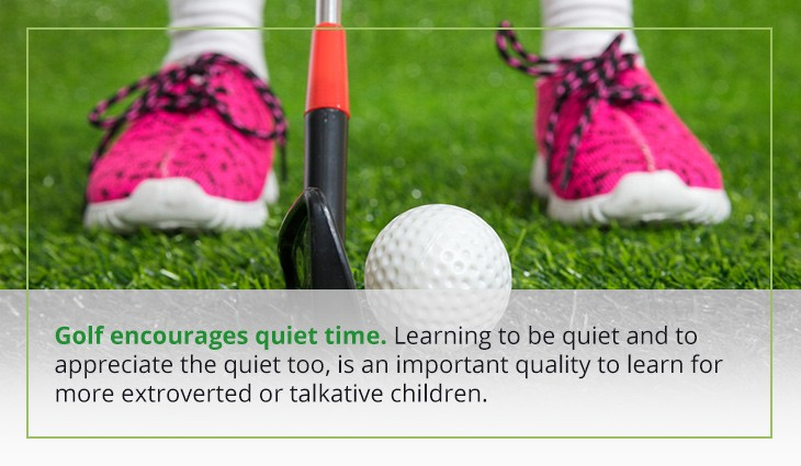 03 golf encourages quiet time - Top Reasons Children Should Play Golf