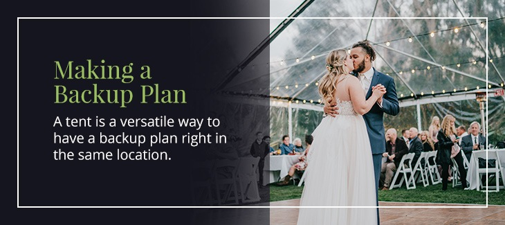 Have a backup plan for outdoor wedding