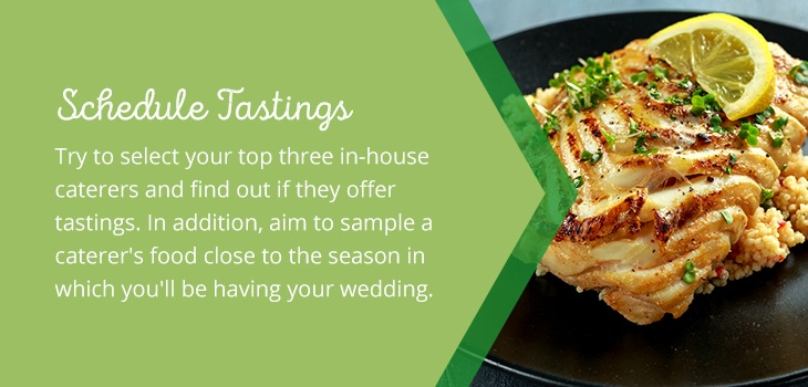 03 schedule tastings - How to Choose a Wedding Catering Service
