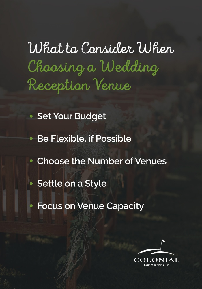 what to consider when choosing a wedding reception venue