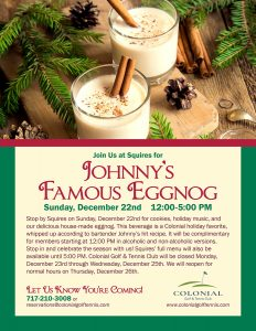 Johnnys Eggnog 232x300 - Johnny's Famous Eggnog and Cookies
