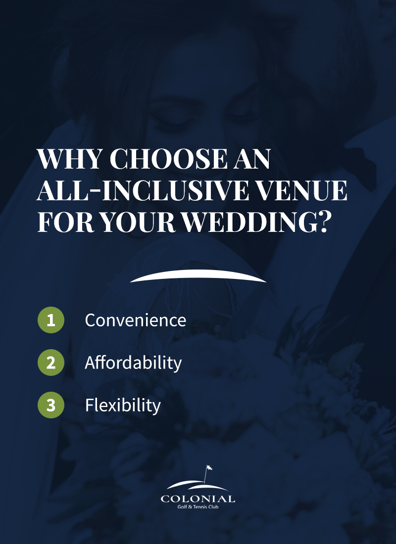 03 why choose an all inclusive venue - Golf Course Wedding Packages