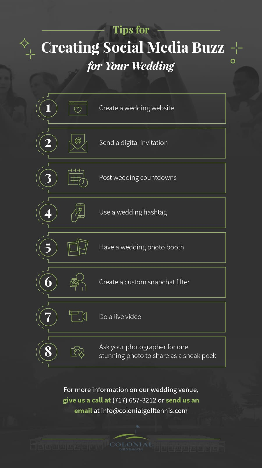 MG Tips for Creating Social Media Buzz for Your Wedding 1 - 8 Tips for Creating Social Media Buzz for Your Wedding