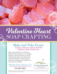 Valentine Heart Soap Flier 232x300 - Valentine Heart Soap Making