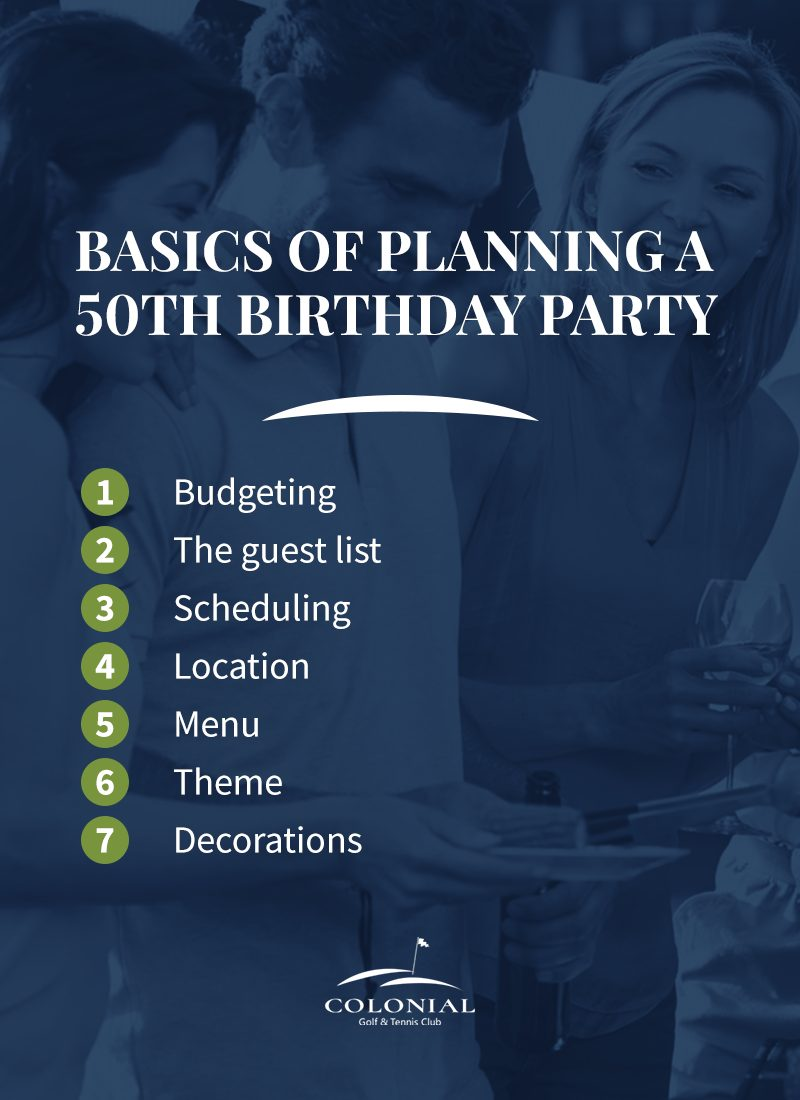 02 basics of planning a 50th birthday party - Planning a 50th Birthday Party for Every Kind of Person