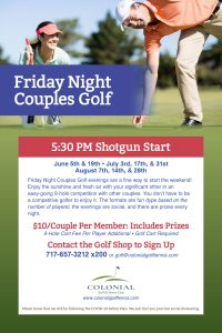 Couples Night Golf Poster Edit 200x300 - Friday Night Couples Golf