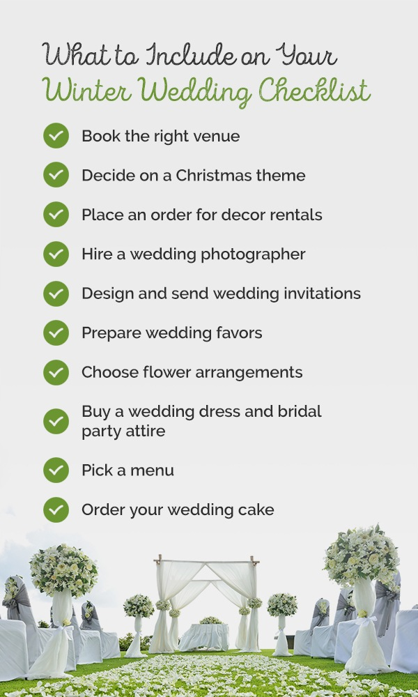 02 What to include on your winter wedding checklist pinterest - Christmas Themed Wedding Ideas and Inspiration