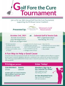 2021 Golf Fore the Cure Flier 1 229x300 - Golf Fore the Cure Tournament