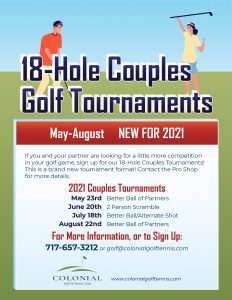 Couples Tournament Letter Poster 2021 232x300 - Better Ball of Partners Couples Golf