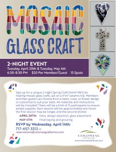 Mosaic Craft Flyer 229x300 - Mosaic Glass Craft First Session