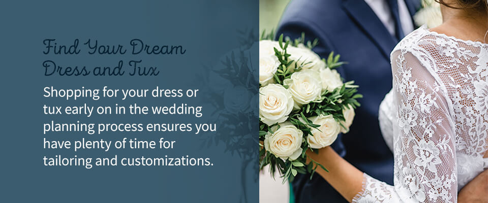 06 Find your dream dress and tux - How to Plan a Wedding
