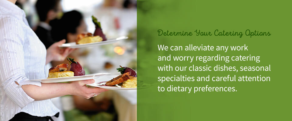 02 Determine your catering options - Venue for Anniversary Parties in Harrisburg, PA